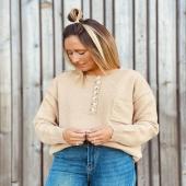 Nuestro JERSEY BÁSICO perfecto con detalles muy 🔝! 🤎 ✔️Jersey bolsillo camel  #nuevacolección #new #jersey #moda #camel #autumn