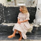 🤎VESTIDO BALI BEIGE🤎 somos fans total de los tonos tostados para el verano!   👉🏻Desliza para ver más fotitos📷 📦Shop online www.catalove.es  #nuevacolección #vestidos #vestidoslargos #vestidosdenidodeabeja #flores #tonostostados #inspiration #outfit
