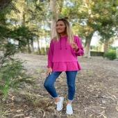 Muero de amor con lo que os está gustando la nueva sudadera 💖 quedan poquitas unidades asi que corred a por vuestro color prefe!  ✔️Sudadera volante fucsia 📦www.catalove.es   #nuevacolección #novedades #sudaderas #sudaderasbonitas #volantes #rosa #otoño #look #lookoftheday