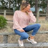 Si os encantó en camel … en rosa es para morir de amor 💖 ✔️Jersey Pompones Rosa SHOP ONLINE www.catalove.es  #nuevacolección #jerseyover #jersey #punto #colores #rosa #pinklover