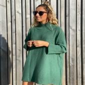 Nos encantan los MaxiJerseys y este modelo en color verde es ideal 💚 combínalo con la Sobrecamisa Étnica Beige y conseguirás un look perfecto!   🍃www.catalove.es🍃  #nuevacolección #maxijersey #jerseyover #oversize #punto #verde #instalook